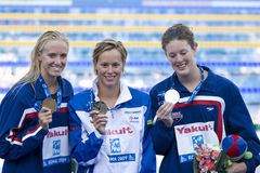 SWM: World Aquatics Championship - Ceremony womens 200m freestyl Stock Photo