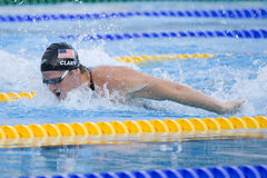 SWM: World Aquatics Championship - Mens 200m butterfly semi fina Royalty Free Stock Images
