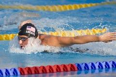 SWM: World Aquatics Championship - Mens 400m individual medley f. Jul 02 2009; Rome Italy; Ryan Lochte (USA) on his way to winning the mens 400m Individual Royalty Free Stock Photography