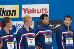 SWM: World Aquatics Championship - Mens 4 x 200m freestyle final Royalty Free Stock Photography