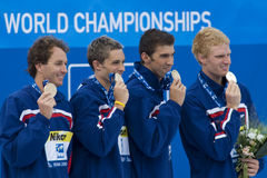SWM: World Aquatics Championship - Mens 4 x 100m medley final Royalty Free Stock Images
