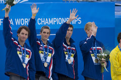SWM: World Aquatics Championship - Mens 4 x 100m medley final Stock Photos