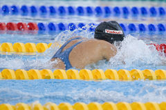 SWM: World Aquatics Championship - Womens 100m breaststroke fina. Jul 28 2009; Rome Italy; Rebecca Soni (USA) on her way to winning the womens 100m breaststroke stock image