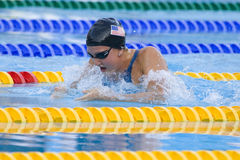 SWM: World Aquatics Championship - Womens 100m breaststroke fina. Jul 28 2009; Rome Italy; Rebecca Soni (USA) on her way to winning the womens 100m breaststroke royalty free stock photo