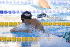 SWM: World Aquatics Championship - Womens 100m breaststroke semi. Jul 27 2009; Rome Italy; Rebbecca Soni on her way to setting a new world record of 1.04.84 Stock Image