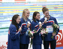 SWM: World Aquatics Championship -  womens 4 x 200m freestyle fi Royalty Free Stock Photography