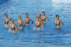 SWM: World Championship  women's team sychronised swimming Stock Image
