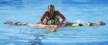 SWM: World Championship  women's team sychronised swimming Stock Photography
