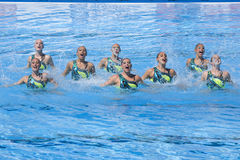 SWM: World Championship women's team sychronised swimming Royalty Free Stock Image