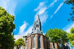 Swoboda kościół Amsterdam obrazy royalty free