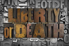 Swoboda lub śmierć obrazy stock