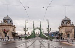 Swoboda most lub wolność most w Budapest Zdjęcie Royalty Free
