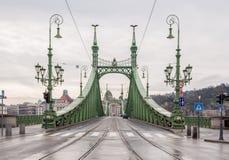 Swoboda most lub wolność most w Budapest Zdjęcia Stock