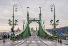 Swoboda most lub wolność most w Budapest Obraz Stock