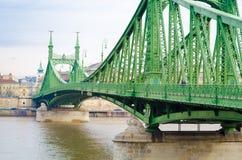 Swoboda most lub wolność most w Budapest, Węgry, łączymy Budę i zarazy Obraz Royalty Free
