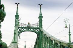 Swoboda most lub wolność most w Budapest, Węgry, łączymy Budę i zarazy Zdjęcia Royalty Free