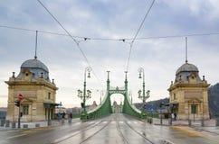 Swoboda most lub wolność most w Budapest, Węgry Zdjęcia Royalty Free