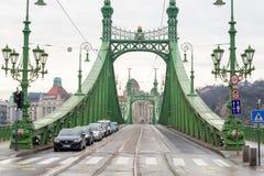 Swoboda most lub wolność most w Budapest, Węgry Zdjęcie Royalty Free