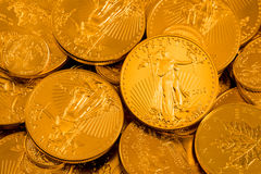 Swoboda Złocisty Eagle jeden unci moneta Zdjęcie Royalty Free