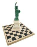 swobody deskowa szachowa statua Zdjęcia Stock