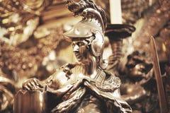 Swobody i sprawiedliwości symbolu rycerza srebra statua Obraz Royalty Free