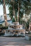 Swobody Kwadratowa fontanna zdjęcie stock