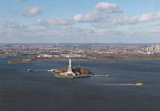 Swobody statua, NY, od above, usa Zdjęcie Stock