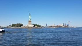 Swobody statua od łodzi zdjęcie wideo