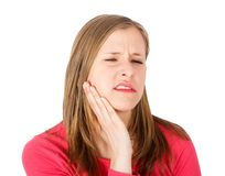 Swollen Cheek from Toothache Stock Photo