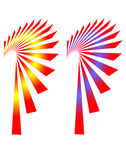 Swooping Fan Shapes Royalty Free Stock Photos