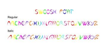 Swoosh字体 免版税库存照片