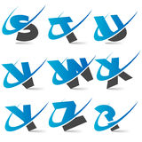 Swoosh Alphabet Set3 Royalty Free Stock Photography