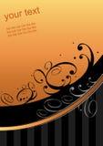 Swoosh anaranjado gráfico Foto de archivo libre de regalías