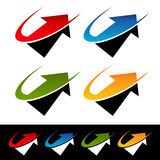 Swoosh Arrow Icons Royalty Free Stock Images