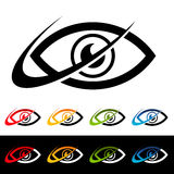 Swoosh-Augen-Ikonen Lizenzfreie Stockbilder