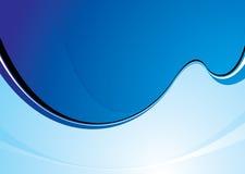 Swoosh azul fresco stock de ilustración