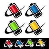 Swoosh Battery Icons Stock Image