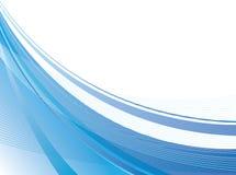 Swoosh blu Fotografie Stock