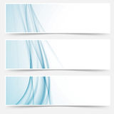 Swoosh blue modern abstract web element set. Headers or website footers collection. Vector illustration vector illustration