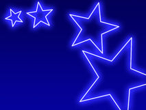 Swoosh brilhante da estrela Fotografia de Stock Royalty Free