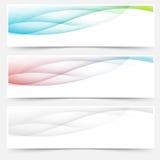 Swoosh brilhante da onda dos pés de página dos encabeçamentos da Web Fotografia de Stock