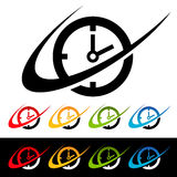 Swoosh Clock Icons Royalty Free Stock Image