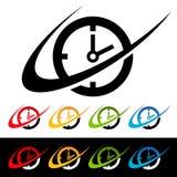 Swoosh Clock Icons Royalty Free Stock Image