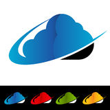 Swoosh Cloud Computing Icons Royalty Free Stock Photos