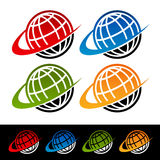 Swoosh Earth Icons Stock Photos