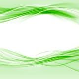 绿色光滑的swoosh eco边界摘要布局 免版税库存图片