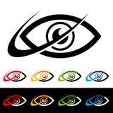 Swoosh Eye Icons Royalty Free Stock Images