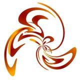 swoosh för swirl för designguld röd Arkivbild