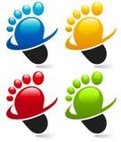 Swoosh Foot Icons Stock Photo