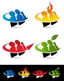 Swoosh-Leute-Ikonen Lizenzfreie Stockbilder